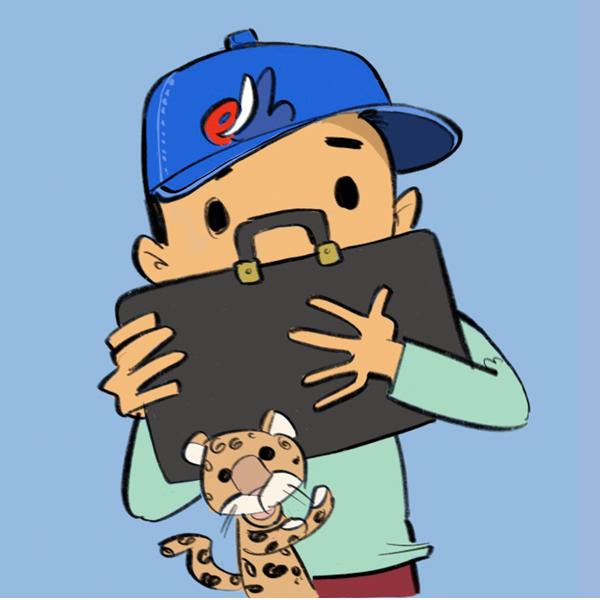 Gary Tiger illustration circle icon